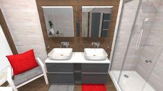 Praca konkursowa z wykorzystaniem mebli łazienkowych z kolekcji LOOK #naszemeblenaszapasja #elitameble #meblełazienkowe #elita #meble #łazienka #łazienkaZElita2019 #konkurs Bathtub, Mirror, Bathroom, Furniture, Design, Home Decor, Standing Bath, Washroom, Bath Tub