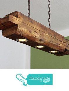 Deckenlampe aus altem Holzbalken inkl. LEDs von der aus-Holz-mit-Liebe https://www.amazon.de/dp/B074H91126/ref=hnd_sw_r_pi_dp_rOBGzb0B8QJVR #handmadeatamazon