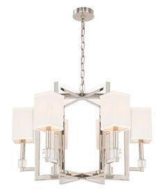 """View the Crystorama Lighting Group 8886 Dixon 6 Light 28.5"""" Wide Chandelier with…"""