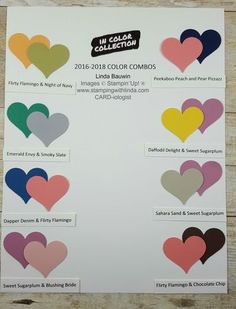 Linda Bauwin - CARD-iologist Helping you create cards from the heart. Check out these cool color combinations with the New In Color from Stampin' Up! #2016-18iccolors, #sneekpeekincolors #linda Bauwin #incolor #lindabauwin