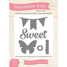 Echo Park Paper Company EPMDie8 Sweet, Butterfly, and Banner Die Scrapbook Echo Park Paper Company http://www.amazon.com/dp/B00KDE917Q/ref=cm_sw_r_pi_dp_q.-lub0928R3T