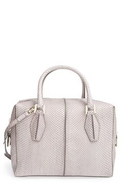 Tod's 'Small D Cube' Genuine Python Bowler Bag available at #Nordstrom