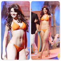 Urvashi Rautela Posing on the ramp in Bikini For Miss India 2015