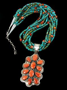 Native American Necklaces and Pendants from Navajo, Santo Domingo, Hopi
