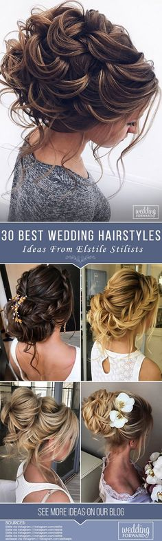 Outstanding 30 Best Elstile Wedding Hairstyles We have some styles to be perfect inspiration for your bridal look. Elstile wedding hairstyles are perfect for brides with long or medium hair length. See more: www.weddingforwar… #weddings #hairstyles #bridalhairstyle #elstilewe ..