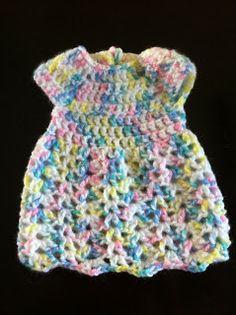 Crochet Preemie Dress - Free Pattern   Not My Nana's Crochet!