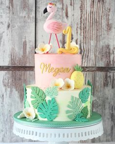 oesn't this cake reminds you of sunny days & warm tropical breeze! Little Girl Cakes, Little Girls, Cloud 9, Cakes And More, Sunny Days, Breeze, Birthday Cake, Tropical, Warm