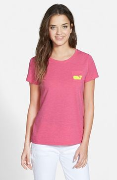 Women's Vineyard Vines Heathered Whale Tee