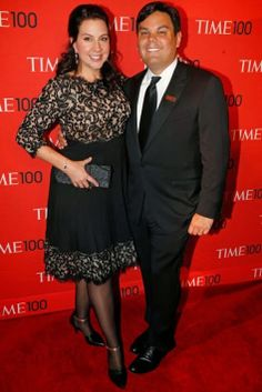 Frozen songwriters and Honorees Kristen Anderson-Lopez and Robert Lopez at the Time 100 Gala at Jazz at Lincoln Center in New York on April, 29, 2014. (Jonathan D. Woods for TIME)