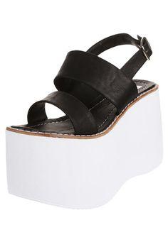 Sandalia Negra Cianna High Heels, Platform, Footwear, Women's Fashion, Clothes, Shoes, Girly, Gowns, Women Sandals