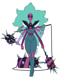 we now know alexandrites weapon-the other fusions weapons all used- but it would still be cool to have weapons like these for alexandrite to bash a bad guy's head in.