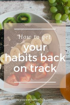 Starting habits is easy. Keeping them going is hard. If you've slipped, try these tips to get your habits back on track Healthy Foods To Eat, Healthy Habits, Health And Wellness, Health Tips, Nutrition Tips, Mental Health, Stress Relief Tips, Productivity Hacks, Back On Track