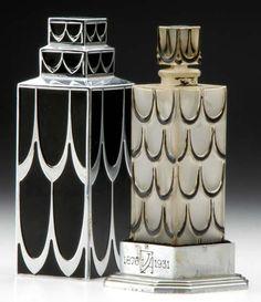 * Parfum Lucien Lelong - flacon René Lalique ~ Skyscraper perfume ~ 1930's