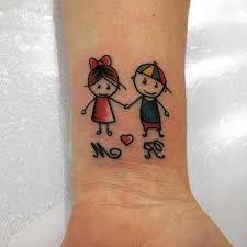 Risultati immagini per tatuagem+menino+e+menina+palito