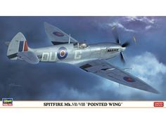 Hasegawa 1:48 Supermarine Spitfire Plastic Model Airplane Kit HS07321 This Supermarine Spitfire MkVII/VIII Pointed Wing Plastic Model Airplane Kit comprises 103 pieces. This model kit made by Hasegawa requires assembly and is 1:48 scale (approx. 25cm / 9.8in wingspan).