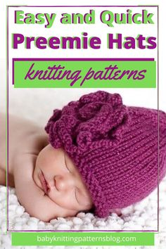 A wonderful resource for preemie hats knitting patterns, Several free patterns presented here too. Many are easy as well, always asked for Baby Hat Knitting Patterns Free, Baby Hat Patterns, Baby Hats Knitting, Knitted Hats, Magic Loop Knitting, Knitting Help, Knitting For Charity, Newborn Hats, Newborns