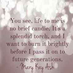 Words from Mary Kay Ash