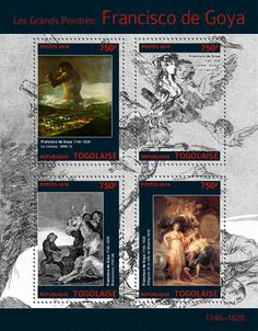 "TG 14311 a	Francisko de Goya (""The Colossus"" 1808-1812, ""All Will Fall, Plate 19 of Los Caprichos"", 1797-1799, ""Bravissimo!"" 1797-1798, ""Allegory of the City of Madrid"" 1810)"