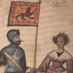In 1302 Elizabeth de Burgh married Robert Bruce, Earl of Carrick, in Essex.  Bruce was a widower with a young daughter.  He had first married isabella of Mar who died in 1296, a short time after giving birth to a daughter, Marjory Bruce.