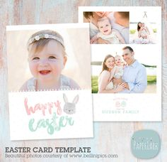 Sweet little Easter Card Template from Paper Lark Designs with super cute editable text!