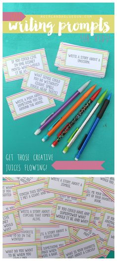 free writing prompts printables for kids #bicfightforyourwrite #ad