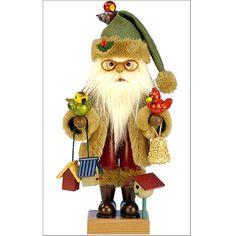 Unique Nutcrackers | Santa Nutcracker with Birds - Limited Edition at Brookstone—Buy Now!