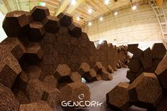 GENCORK_THE NEXT GENERATION_BRAND BY SOFALCA | CREATIVE DIRECTION BY DIGITALAB. CORKAHEDRON_Cork like you´ve never seen it before.Cork meets Generative Design and Digital Fabrication.