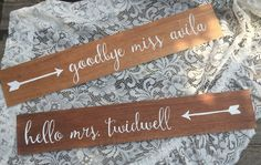 **MADE TO ORDER** Custom wood signs - sold as a set of 2, these custom wooden signs are the perfect touch displayed at an engagement party/bridal