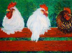"""Barnyard Kings"" - Original Fine Art for Sale - © Jill Bates"