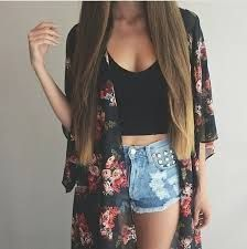 New Women Fashion Half Sleeve Print Loose Chiffon Long Cardigan Top Blouse Coat