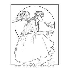 Fantasy Coloring Pages – World's Best Coloring Pages - Mermaids, Angels, Fairies and so much more.