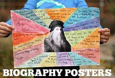 Let's Explore Creative Book Reports Biography Posters Lets Explore 4th Grade Social Studies, Teaching Social Studies, Teaching History, Teaching Writing, Writing Activities, Teaching English, Social Studies Projects, Biography Project, Biography Books