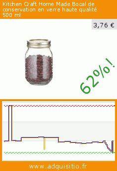 Kitchen Craft Home Made Bocal de conservation en verre haute qualité 500ml (Cuisine). Réduction de 62%! Prix actuel 3,76 €, l'ancien prix était de 9,94 €. https://www.adquisitio.fr/home-made/bocal-conservation-verre-1