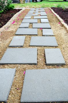 kind of... large(r!) pavers, in (more!) crushed granite