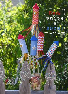 Sparkly Paper Tube Fireworks