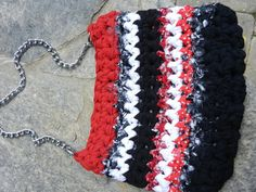Purse. Red Black and White Bag. Pocketbook by sewstacy on Etsy, $45.00
