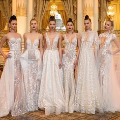 With her dramatic approach to wedding dresses, BERTA Bridal presented a lineup of beautiful wedding dresses for Spring 2018 at New York Bridal Fashion Week. Berta Bridal 2018, Bridal Gowns, Wedding Gowns, Bridal Cape, Wedding Attire, Bridal Fashion Week, Beautiful Gowns, Beautiful Gorgeous, Bridal Collection