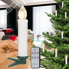 20er stück LED Kabellose Weihnachtskerzen, Christbaumkerz…