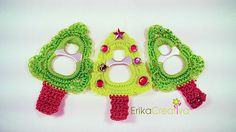 Pop tab Christmas tree. Can make this a pin too - just add a pin back where the trunk meets the bottom of the tree.