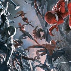 Spider-verse by Gabriele dell'Otto 마블사의 유명한 슈퍼히어로 스파이더맨의 다양한 버젼을 다이내믹한 구도로 그려내었다.