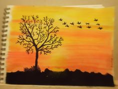 Sunset :) I've just finished it! soft pastel and ink :)  Sandra Tavares 20_10_2013