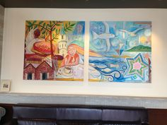 Pictures on the wall at Hakodate Sarbucks
