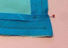 Näin ompelet täydellisen kanttinauhakulman | Kodin Kuvalehti Sewing Hacks, Sewing Tutorials, Sewing Tips, Fabric Crafts, Sewing Crafts, Sewing Techniques, Textile Art, Dress Up, Textiles