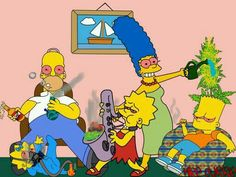 The stoned Simpsons