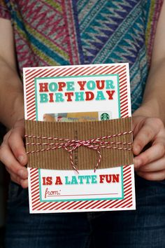 eighteen25: hope your birthday is a latte fun - GC holder - free printable