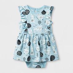 Baby Girls  Easter Bunny Ruffle Dress - Cat  amp  Jack™ Light Blue   9b03e3c72