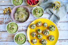 Farine d'étoiles Sans Gluten, Avocado Toast, Guacamole, Breakfast, Ethnic Recipes, Food, In Season Produce, Stuffed Mushrooms, Recipes