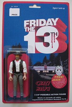 Custom 3 3/4 Friday the 13th Crazy Ralph vintage style figure MOC Jason Voorhees #horror #f13
