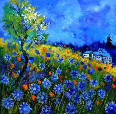 "Saatchi Art Artist Pol Ledent; Painting, ""Summer 2016"" #art"