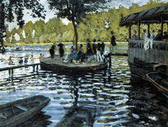 Autor: Claude Monet (Francia) Título: La grenouillere Cronología: 1869 Técnica: Óleo sobre lienzo Medidas: 74.6 cm x 99.7 cm Escuela: Impresionismo Tema: Paisaje